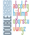 Poster condensed bright font with double stripes vector image vector image