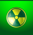 radiation icon radioactivity symbol isolated on vector image