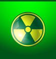 radiation icon radioactivity symbol isolated on vector image