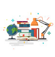 reading education flat design vector image vector image