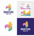 rooster mascot logo design vector image vector image