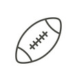 rugby ball icon outline american football vector image vector image