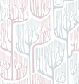 Seamless pattern with stylized trees Winter vector image vector image