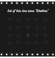 Set icon Weather vector image vector image