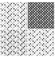 Set of seamless patterns with dots vector image