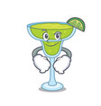 smirking margarita character cartoon style vector image