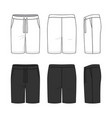 sports shorts in white and black colors vector image vector image