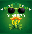 st patrick event with sunglasses and mustache vector image