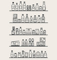 store shelves with goods vector image vector image