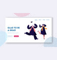 students celebrating graduation end education vector image vector image