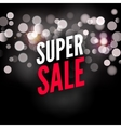 super sale poster template advertising lights vector image vector image
