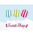 sweet shop vector image vector image