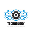 technology - concept business logo template vector image vector image