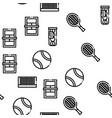 tennis game equipment seamless pattern vector image