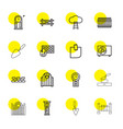 wall icons vector image vector image