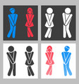 wc sign funny boy and girl toilet icons vector image