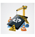 website construction icon vector image vector image