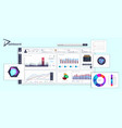 white dashboard with detailed interface vector image vector image