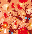 Seamless pattern New Year Christmas vector image