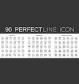 90 outline mini concept infographic symbol of vector image vector image