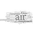 a brief history air compressors vector image vector image
