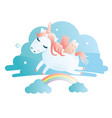a cute unicorn vector image vector image