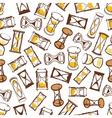 Abstract hourglasses seamless pattern background