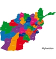 Afghanistan map vector image vector image