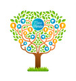 big family tree template in german language vector image vector image