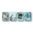 blue paper cut wave shapes layered curve origami vector image vector image