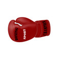 boxing glove on white backgroundrealistic boxing vector image