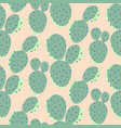 cactuses green on pink seamless pattern vector image