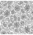 cartoon cute honey seamless pattern vector image vector image