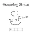cartoon mouse guessing game vector image vector image