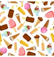 chocolate and fruity ice cream seamless pattern vector image