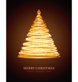 Christmas tree from light vector image vector image