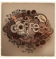 Coffee hand lettering and doodles elements vector image