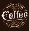 coffee logo design vector image vector image