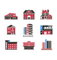 digital black red city buildings vector image vector image