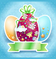 easter card with eggs and copy space vector image vector image