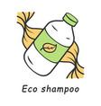 eco shampoo color icon vector image vector image