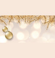 elegant christmas banner design vector image vector image