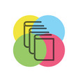 exercise book icon vector image