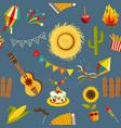 festa junina seamless pattern vector image