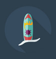 flat modern design with shadow icons surf board vector image vector image