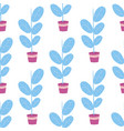 flower home pot and flowers seamless vector image