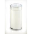 Glass of milk isolated object on white background vector image vector image