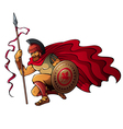 Greek warrior vector image