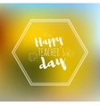 Greeting card happy teachers day yellow back vector image vector image