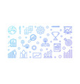 growth company horizontal outline modern vector image